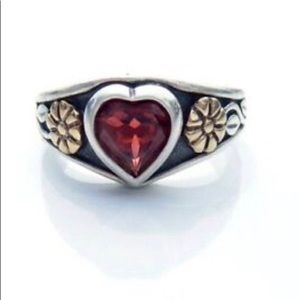 James Avery Heart Garnet Ring
